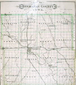 Buchanan County plat map