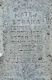 Matej Straka's tombstone was inscribed in Chezc (photo by