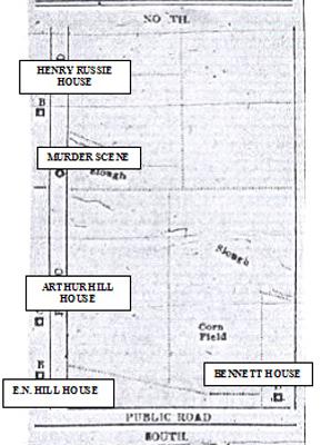 Map of the crime scene.