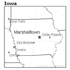 The Hart farm was miles from the county seat Marshalltown