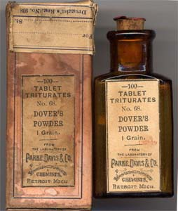 A type of Dover's Powders used in the 19th century (courtesy The Medicine Chest)