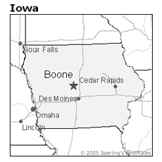 location of Boone, Iowa