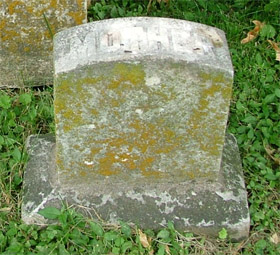 Lizzie Brownlie's tombstone, photographed by JaneB