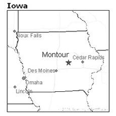 location of Montour, Iowa