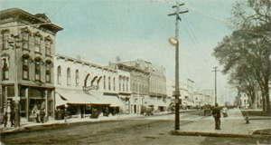 Postcard view of downtown Marshalltown