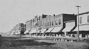 Postcard view of early Clarion, Iowa