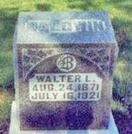 Walter Baldwin's tombstone
