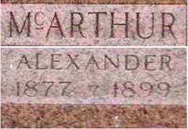 McArthur tombstone