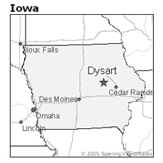 location of Dysart, Iowa