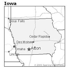 Location of Afton, Iowa
