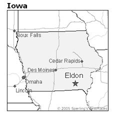 location of Eldon, Iowa