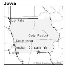 location of Cincinnati, Iowa