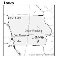 location of Batavia, Iowa