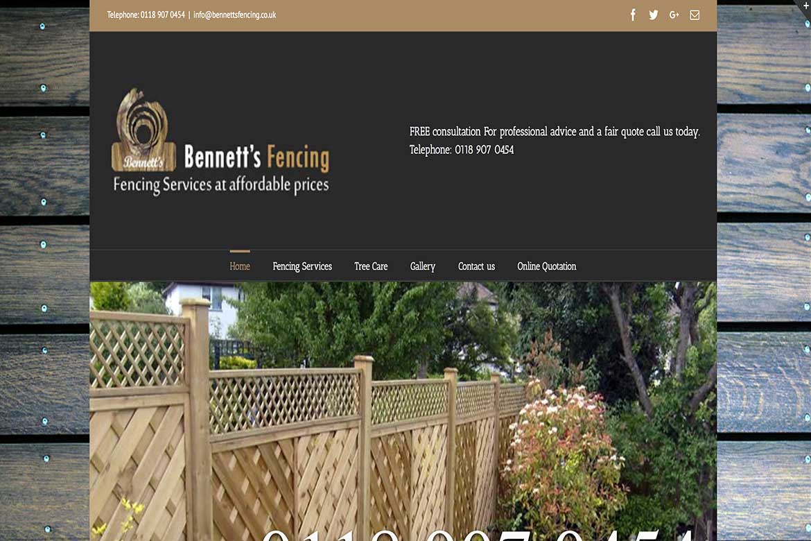 Bennetts-Fencing-Website-Project