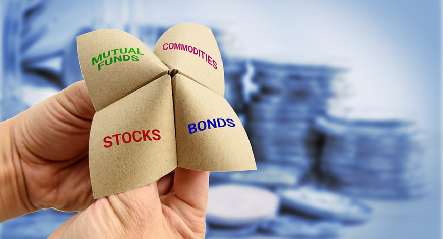 mutual funds, bonds, stock