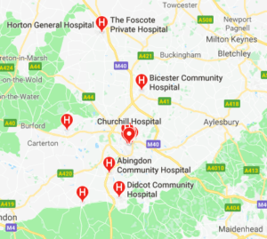 Hospitals in Oxfordshire