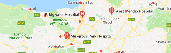 hospitals in Somerset