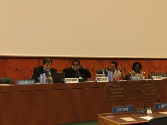 Indigenous panel insists on rights of self-determination for indigenous peoples. (Photo Credit: Catherine Saez, IP-Watch)