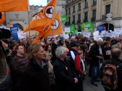 TTIP protests Munich
