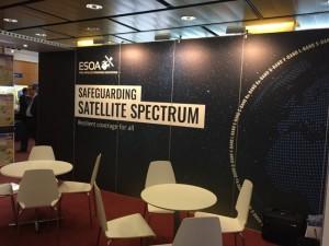 Satellite industry group ESOA's stall