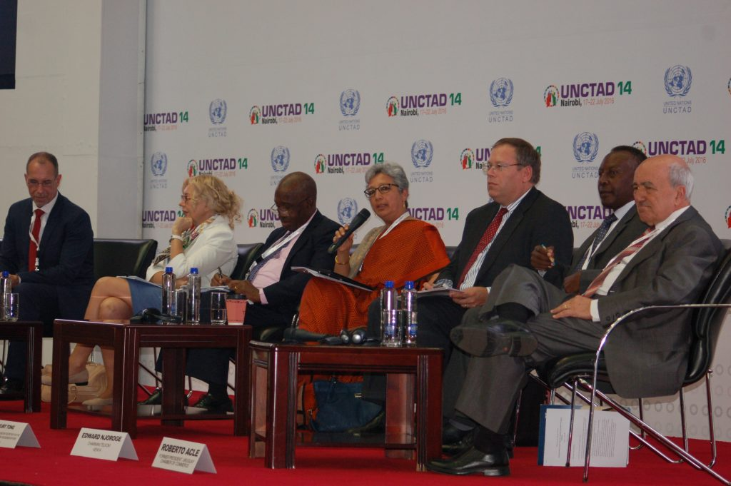 Panel on NTMs at UNCTAD 14 in Nairobi