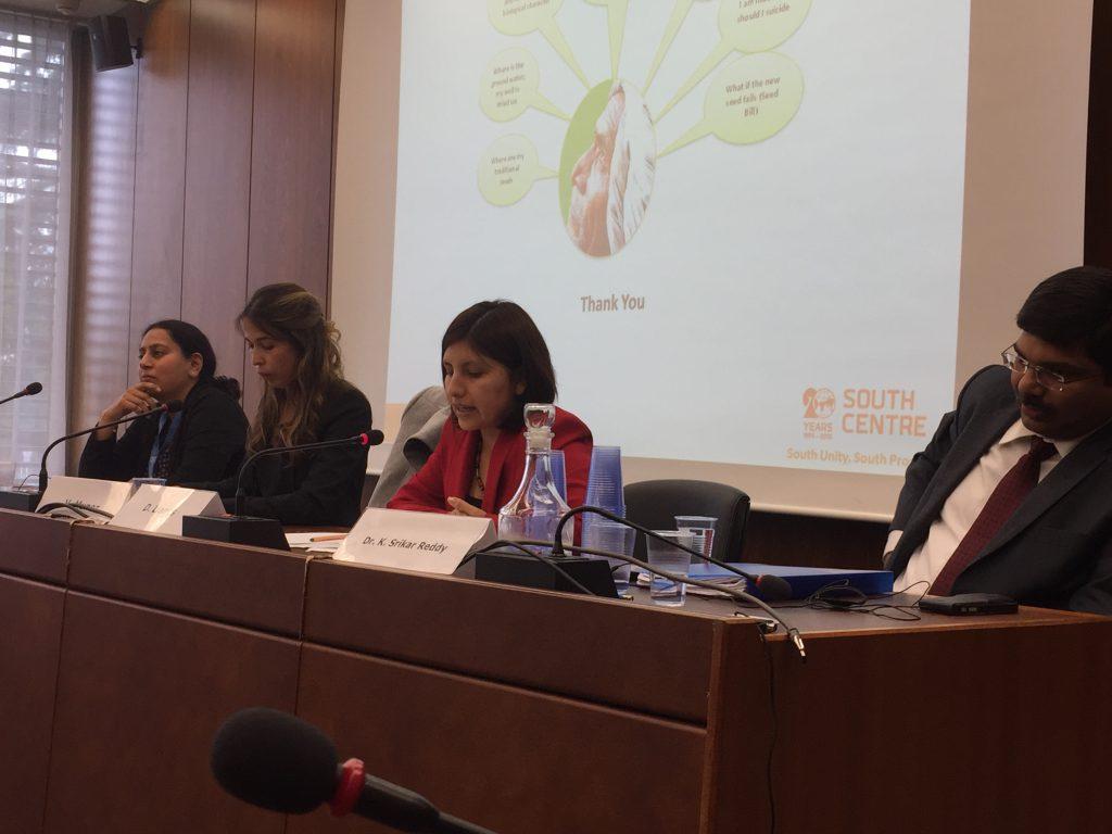 panel from left: Shashikant, Muñoz, Llanos Sanguesa, Reddy