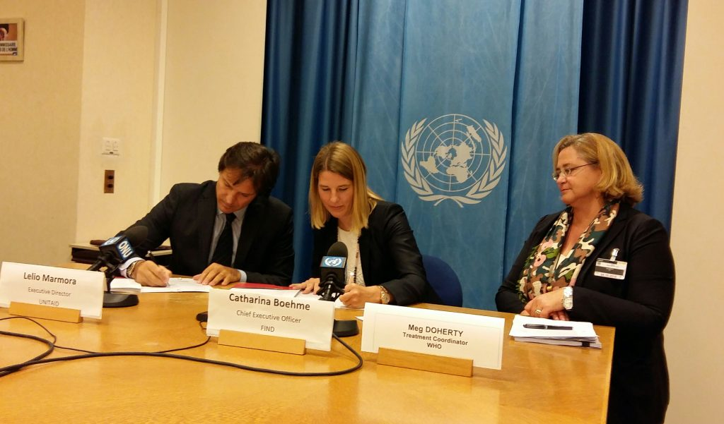 UNITAID-FIND press briefing at the UN today