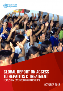 WHO Global Report on Access to Hepatitis C Treatment