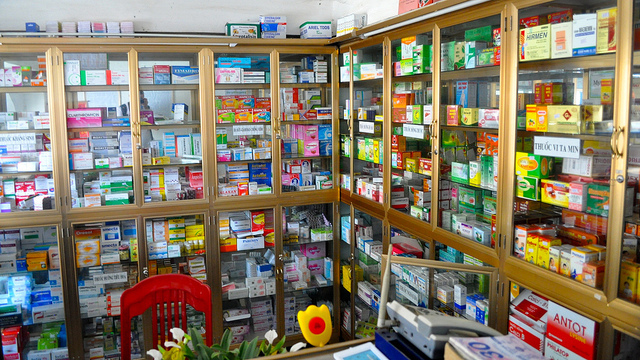 A pharmacy in Vietnam