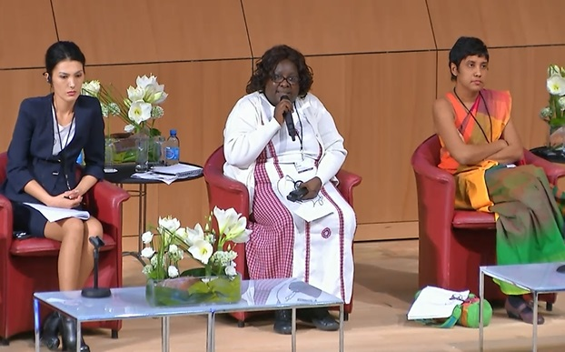 Madina Karmysheva, head of the Section for Selection Achievements and Traditional Knowledge, State Service of Intellectual Property and Innovation under the Government of Kyrgyzstan; Lucy Mulenkei, member of the Maasai People, and executive director of the Indigenous Information Network in Kenya; and Avanti Perera, senior state counsel, Attorney General's Department, Sri Lanka