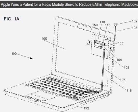Apple brevetta l'antenna 3G nei MacBook