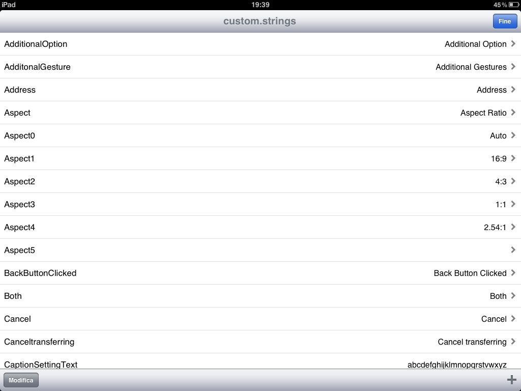 Come tradurre manualmente un'app per iPad