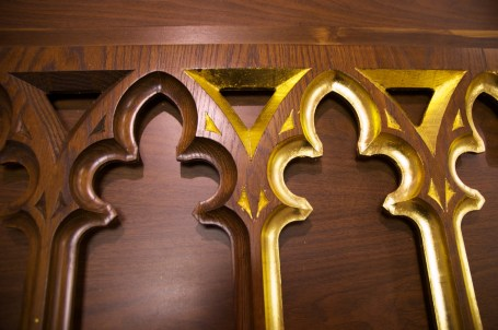 The gilding process is long and laborious.