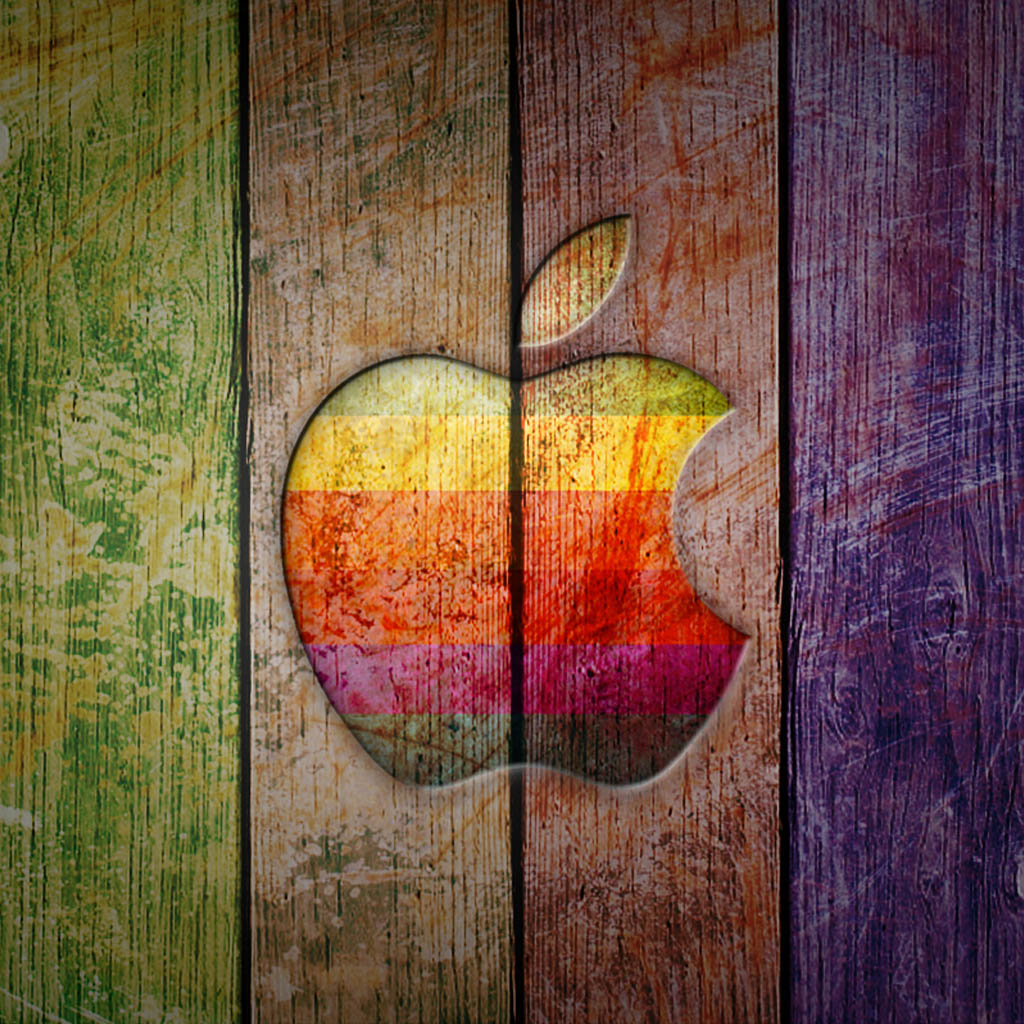 Cool 3d Ipad Wallpapers Apple Logo Paint Ipad Wallpaper Background And Theme