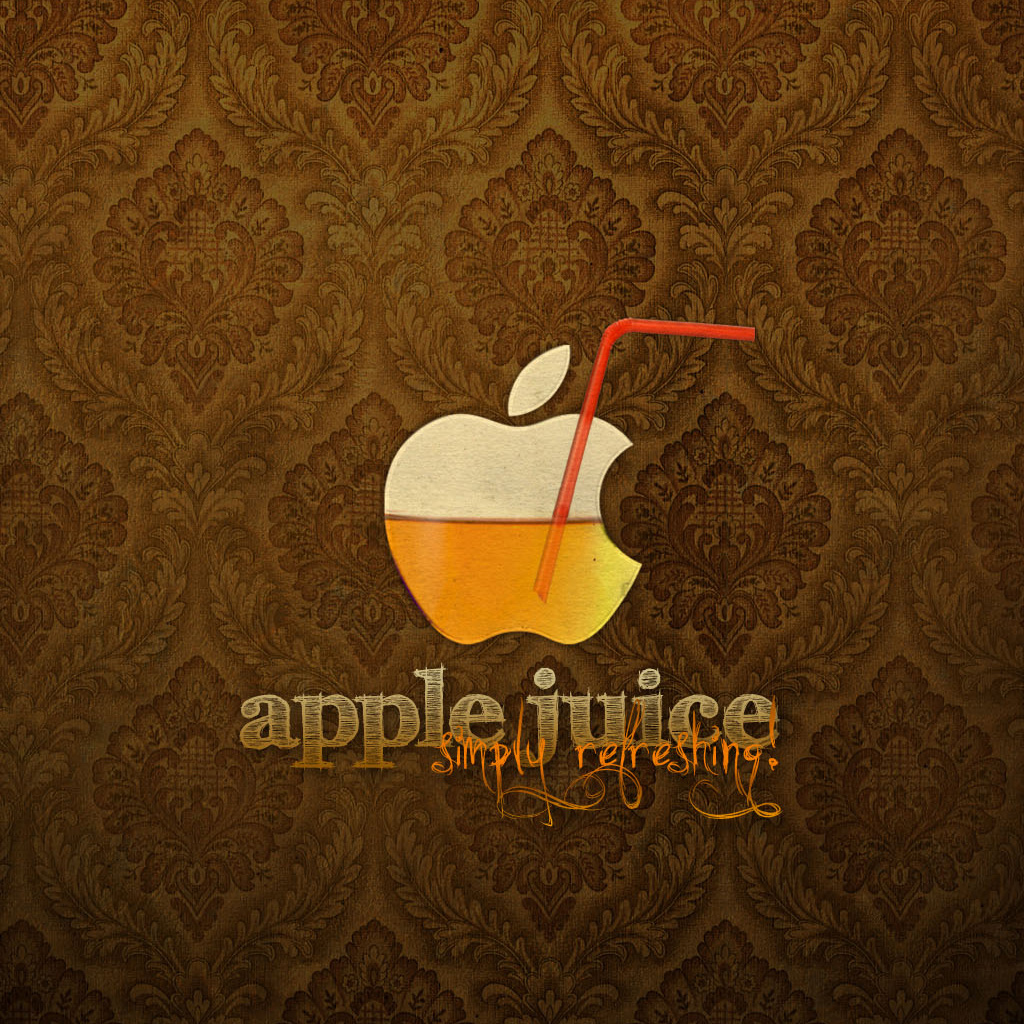 Cool Nature Wallpapers 3d Apple Juice Ipad Wallpaper Background And Theme