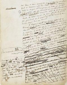 Brouillon Flaubert Madame Bovary