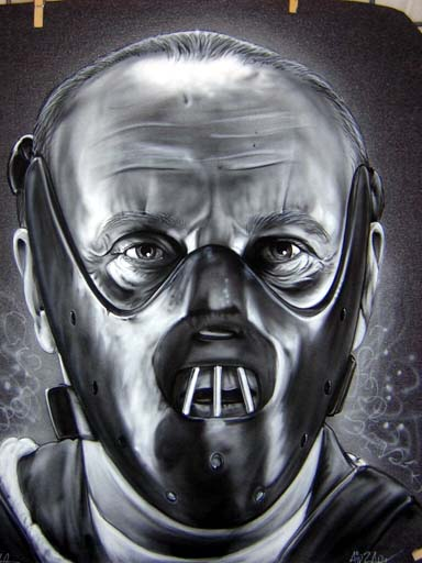 kitchen aid mixers new sink installation hannibal lecter b&w airbrushed on a t-shirt