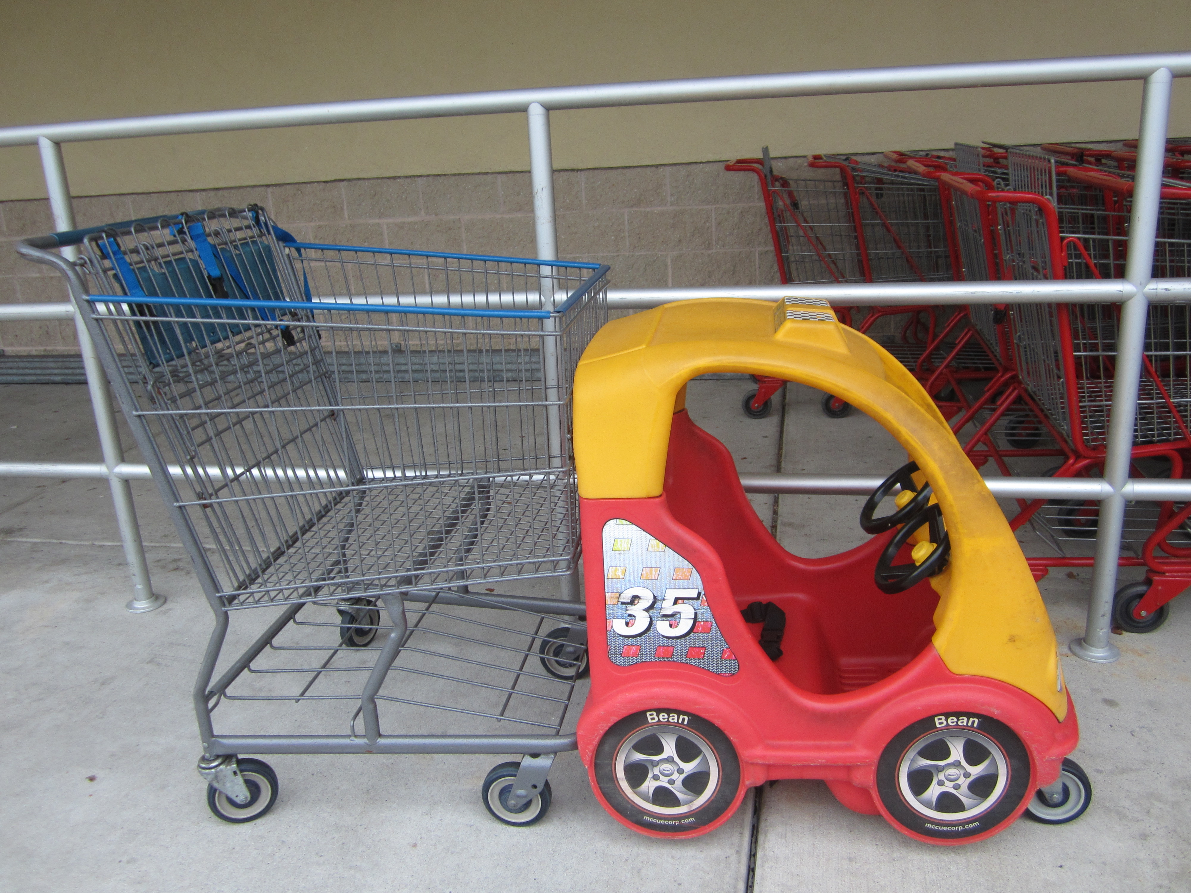 Image result for car cart at grocery store