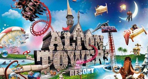 Alton Towers il parco divertimento piu grande e famoso d'Inghilterra
