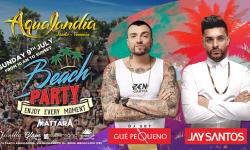 Domenica 9 Luglio primo Beach Party a Aqualandia con Jay Santos e Gue' Pequeno