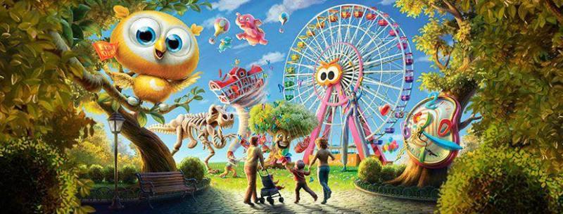 Il parco divertimenti Luneur Park a Roma