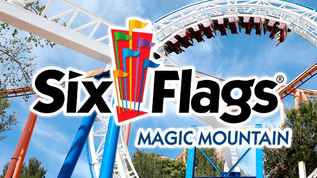 Il parco divertimenti Six Flags Magic Mountain in California