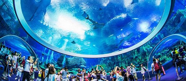 Chimelong Ocean Kingdom, un parco marino, acquario e parco a tema in Cina