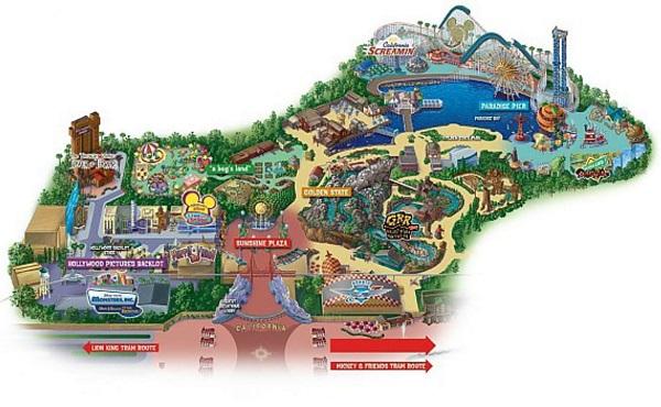 Mappa Disney California Adventure