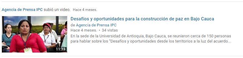Desafios Bajo Cauca_Video