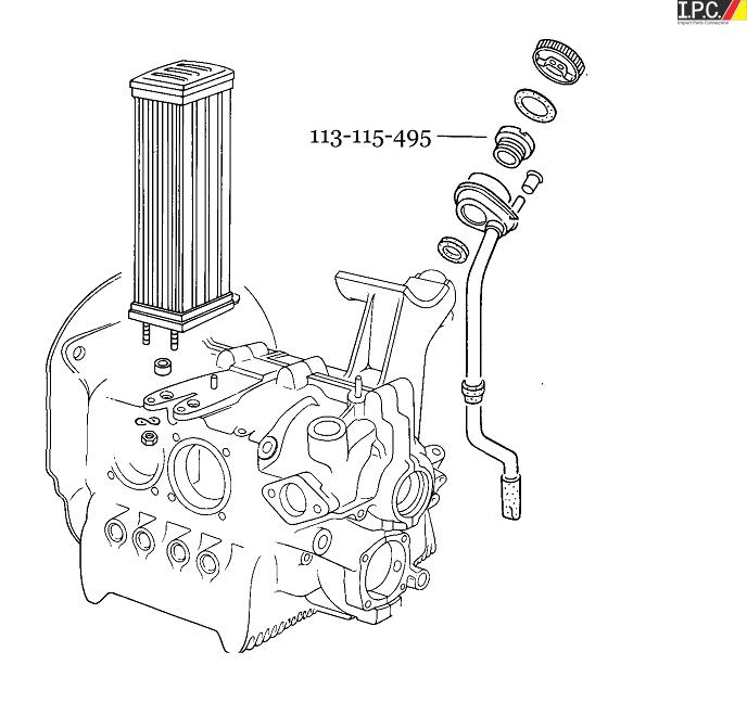 Engine Oil Filler Nut I.P.C. VW Parts, VW Bug Parts and VW