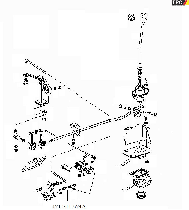 Manual Transmission Shift Rod (4 Speed Manual) I.P.C. VW