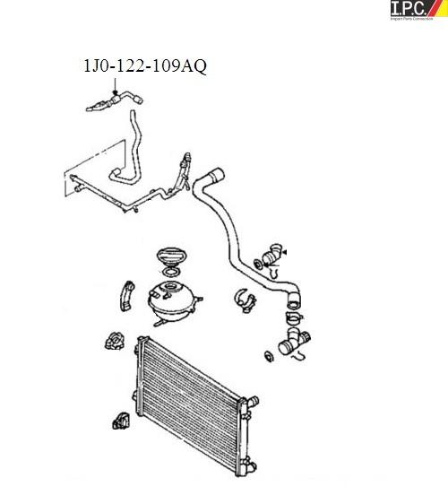 VW / AUDI Engine Coolant Recovery Tank Hose I.P.C. VW