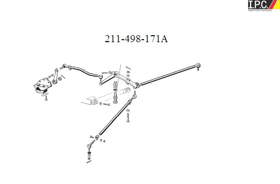 VW Bus 1968-1979 Steering Swing Lever Shaft Kit (Germany