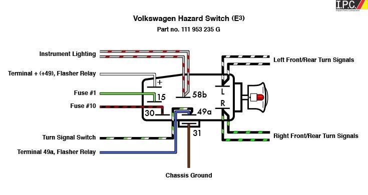 2012 Chevy Volt Wiring Diagram Emergency Flasher Switch Vw I P C Vw Parts Vw Bug Parts